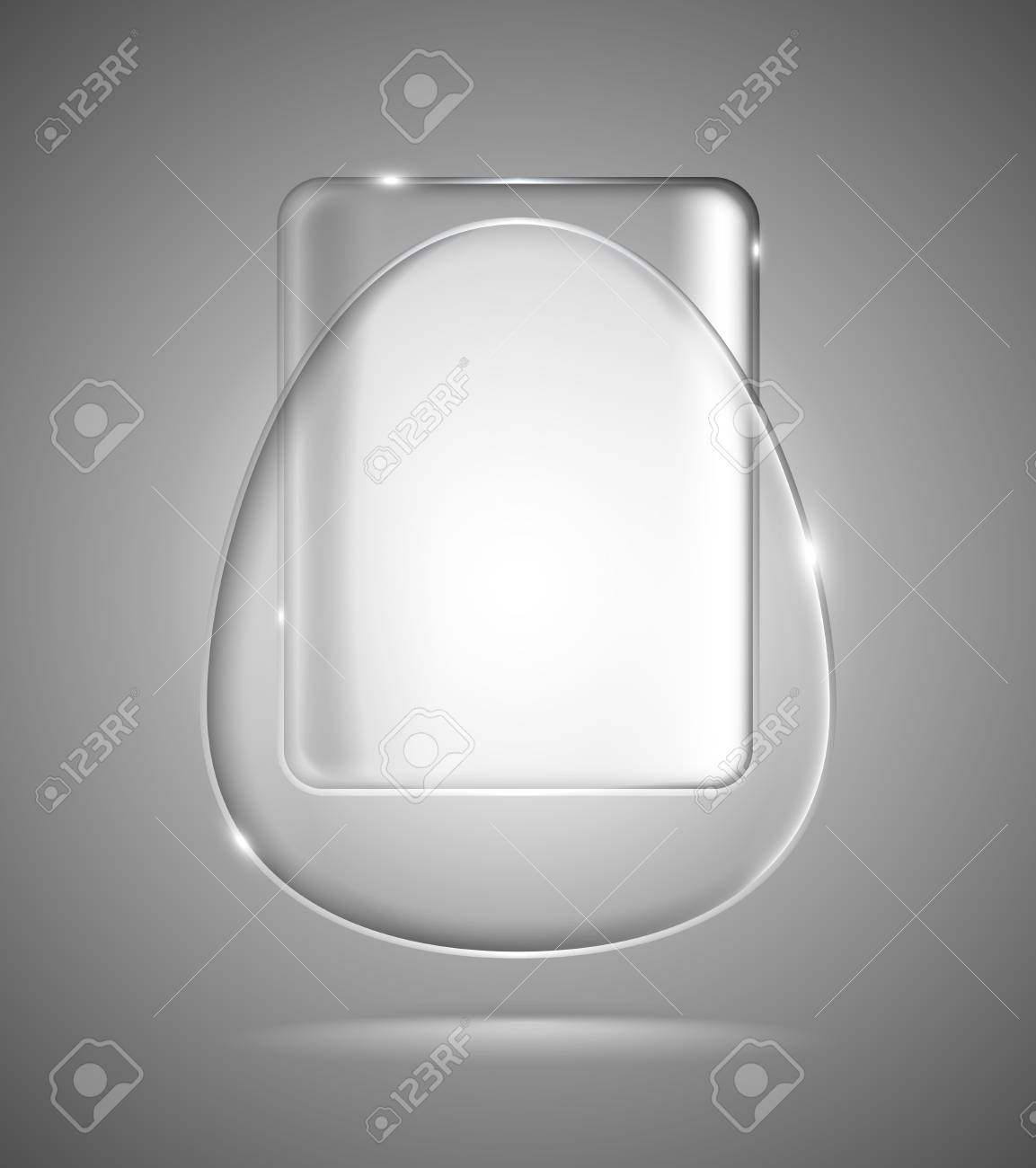Lightened transparent glass geometric egg and rectangle Stock Vector - 19687196