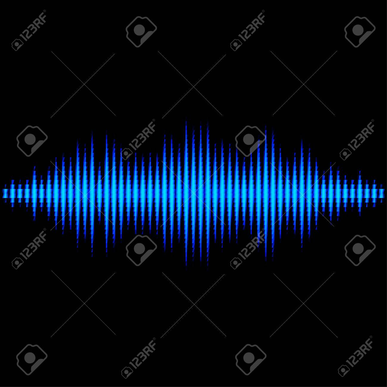 Blue shiny sound waveform with triangle light filter Stock Vector - 27457572