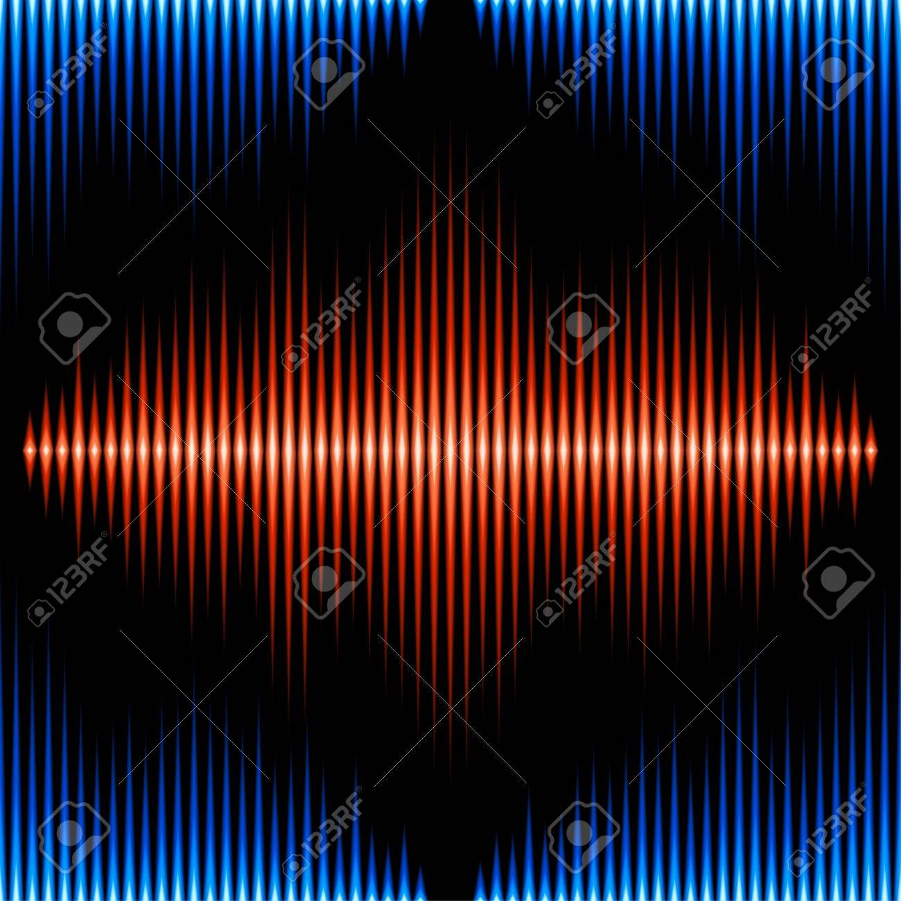 Seamless pattern with blue and orange sound waveform Stock Vector - 27515304