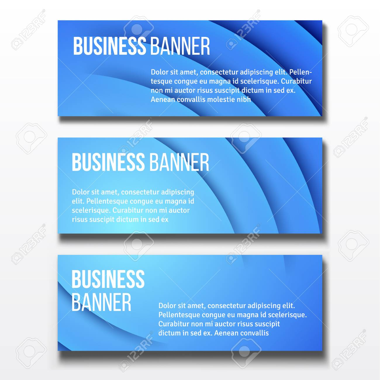 Banners set three horizontal business banner templates royalty free banners set three horizontal business banner templates stock vector 56617157 wajeb Gallery