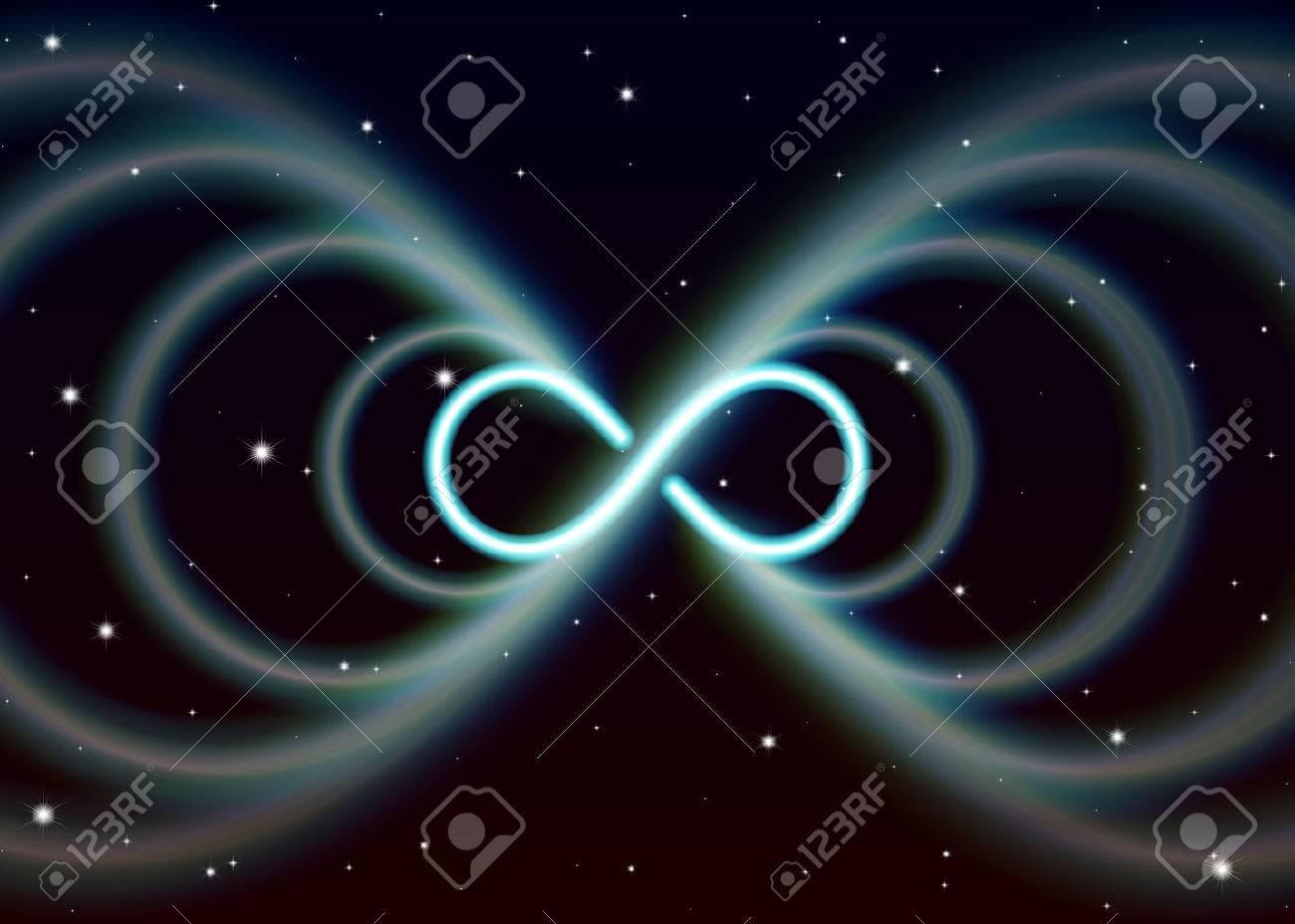 Magic lemniscate symbol infinity or sideways eight spreads the magic lemniscate symbol infinity or sideways eight spreads the mystic energy in spiritual space stock biocorpaavc Gallery
