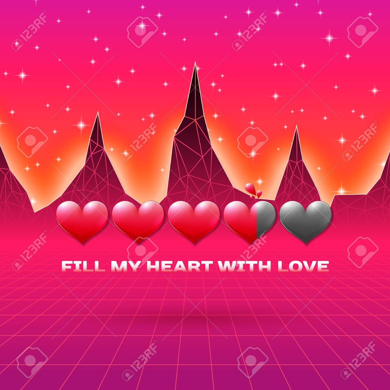 All My Heart Retro Gaming Valentines Card