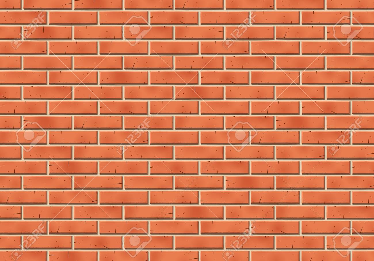 Brick wall with scratched tiled red stones and cement for background and abstract backdrop or wallpaper - 98016746