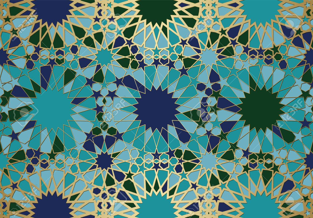 Abstract background with islamic ornament, arabic geometric texture