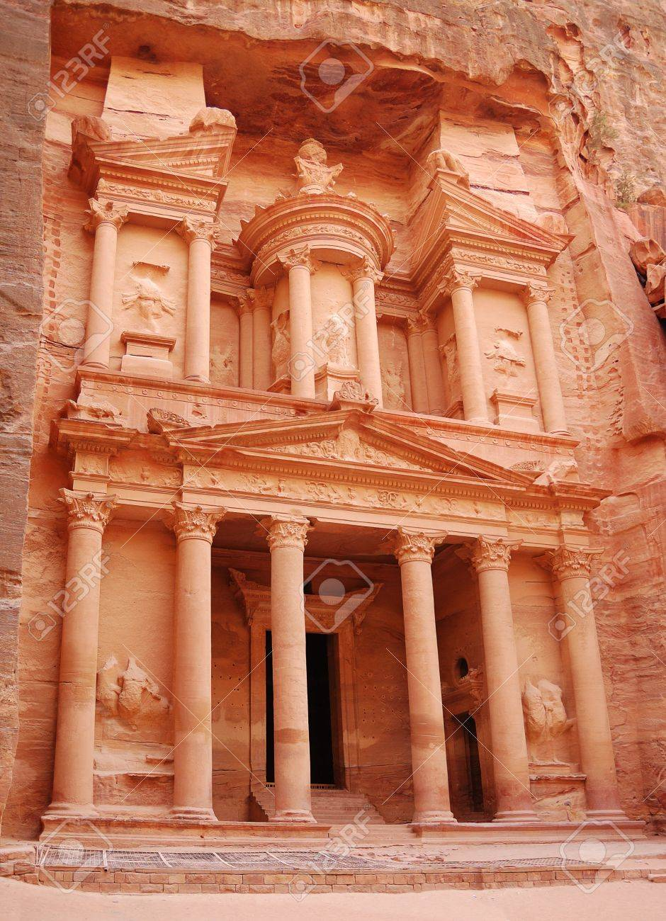 View of ancient temple in Petra - 7627196