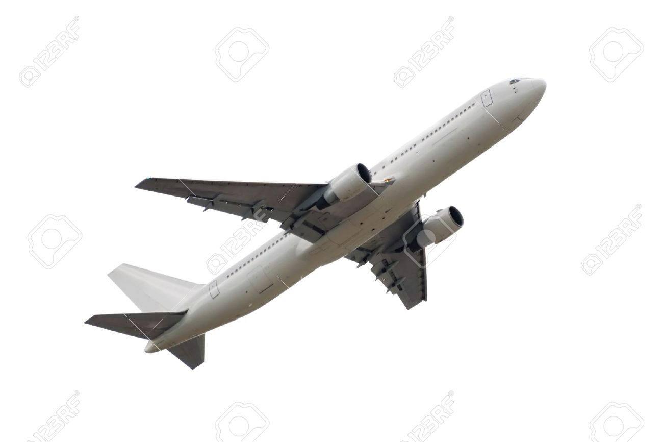 photo of airplane isolated over white background Stock Photo - 9779079