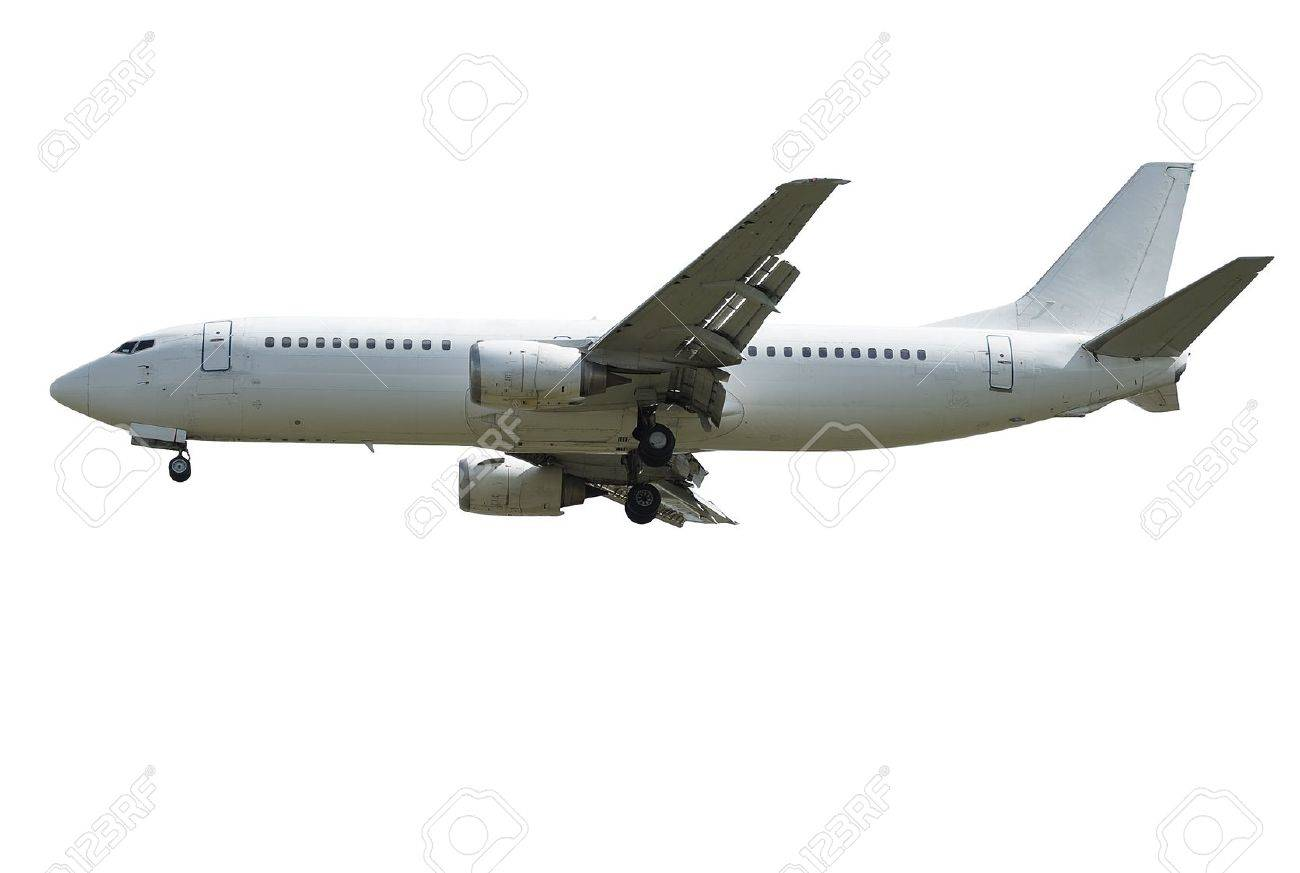 passenger airplane isolated over white background - 10610092