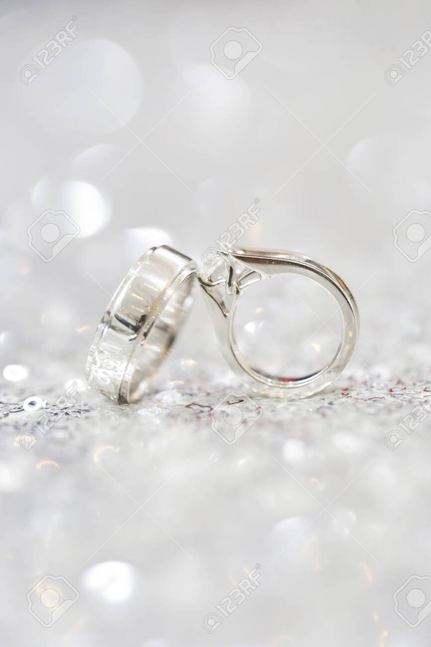 a closeup shot of wedding ring - 146359874