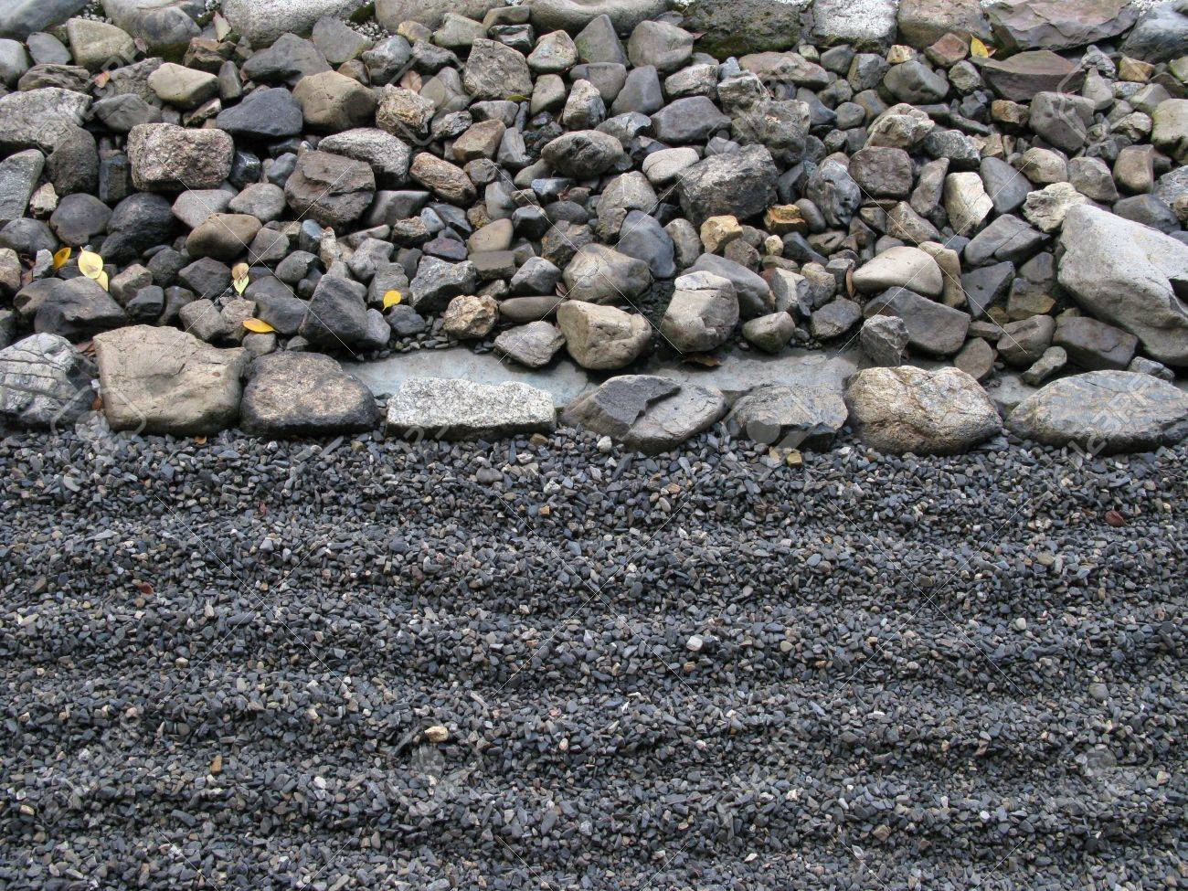 zen composition with stack of grey stone over sand Stock Photo - 6658528