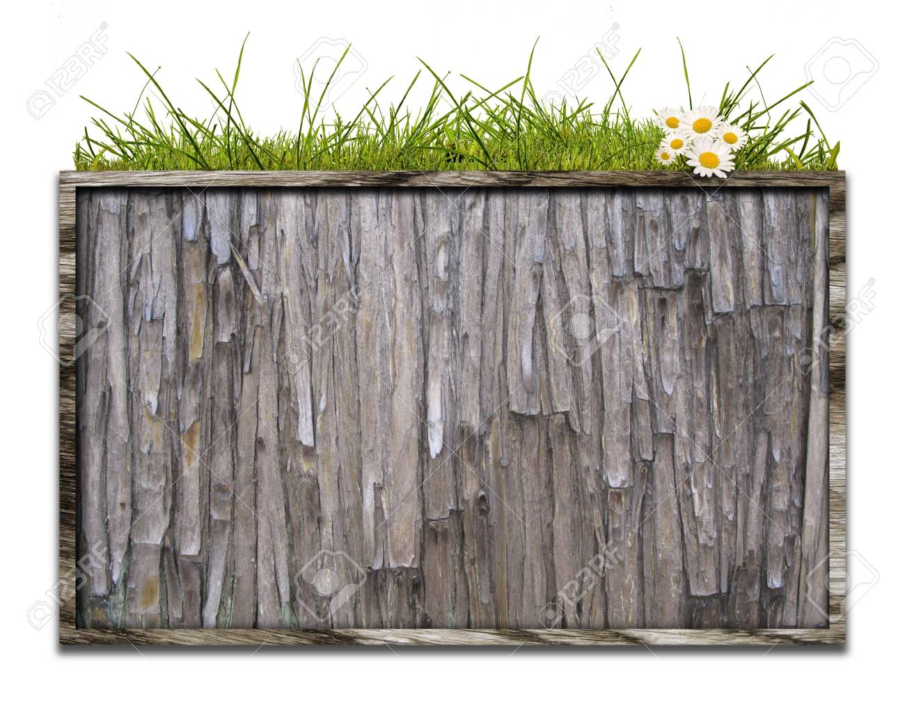 Bulletin board in wooden crate of CG integration Stock Photo - 7826580