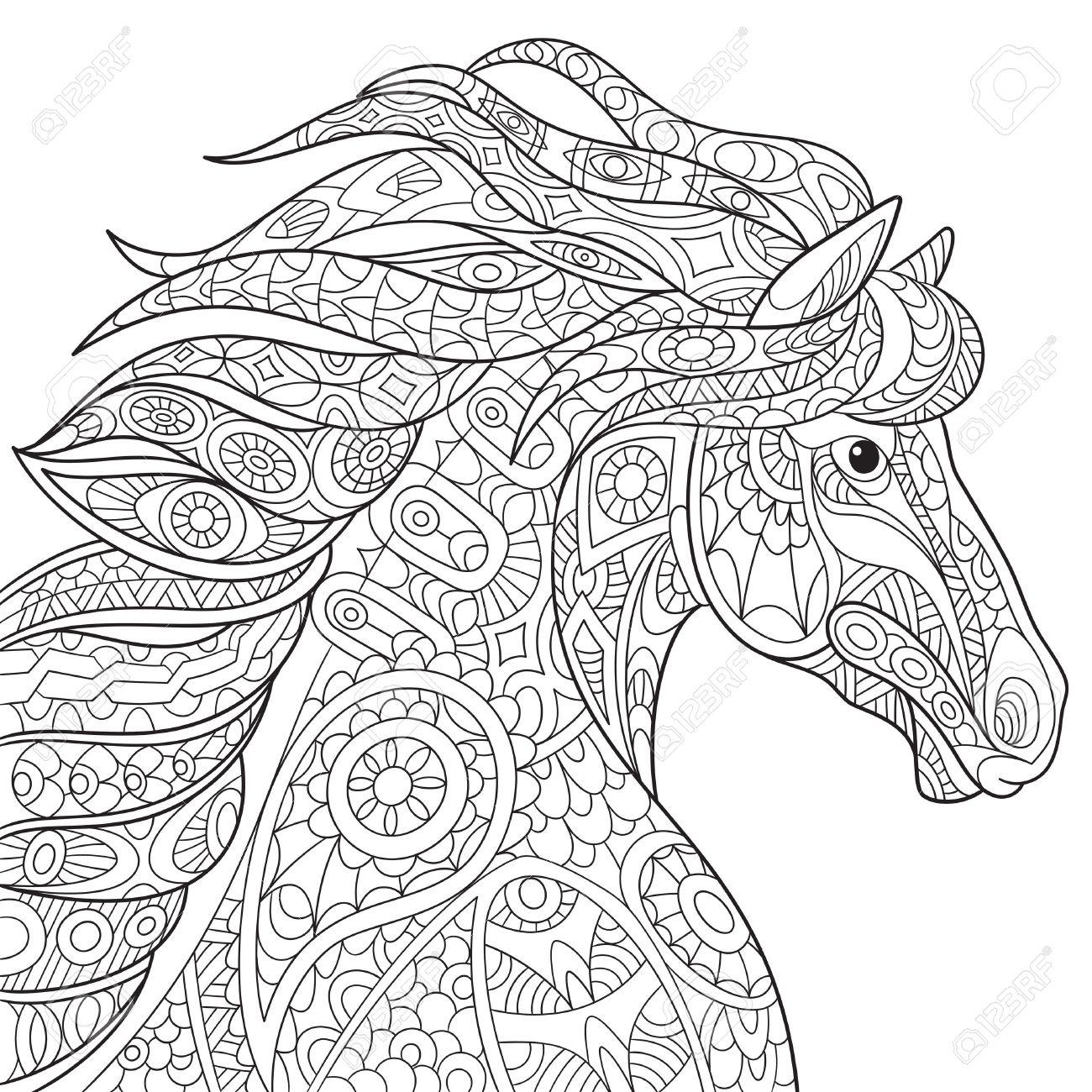 pferde malvorlagen hintrgrund  Coloring and Malvorlagan
