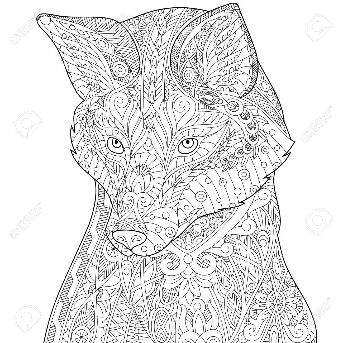 Kleurplaten Honden Voor Volwassenen.Kleurplaat Voor Volwassenen Wolf Woyaolu Info