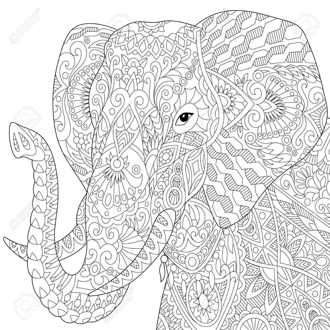 Magnífico Páginas Elefante Zen Para Colorear Elmer El Elefante Para ...