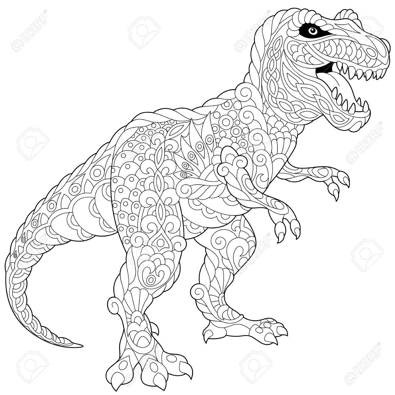 Dinosaurio Estilizado Del Tyrannosaurus (t Rex) Del último Período ...