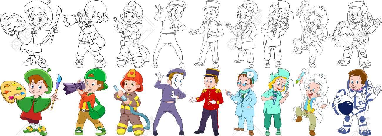 Maler, Fotograf, Feuerwehrmann (Feuerwehrmann), Mime Schauspieler ...
