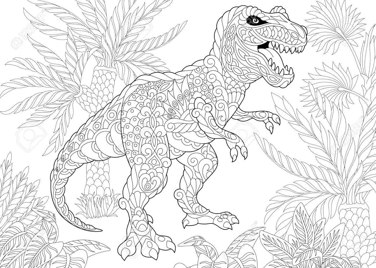 Dinosaurio Estilizado Del Tyrannosaurus T Rex Del Período Cretáceo