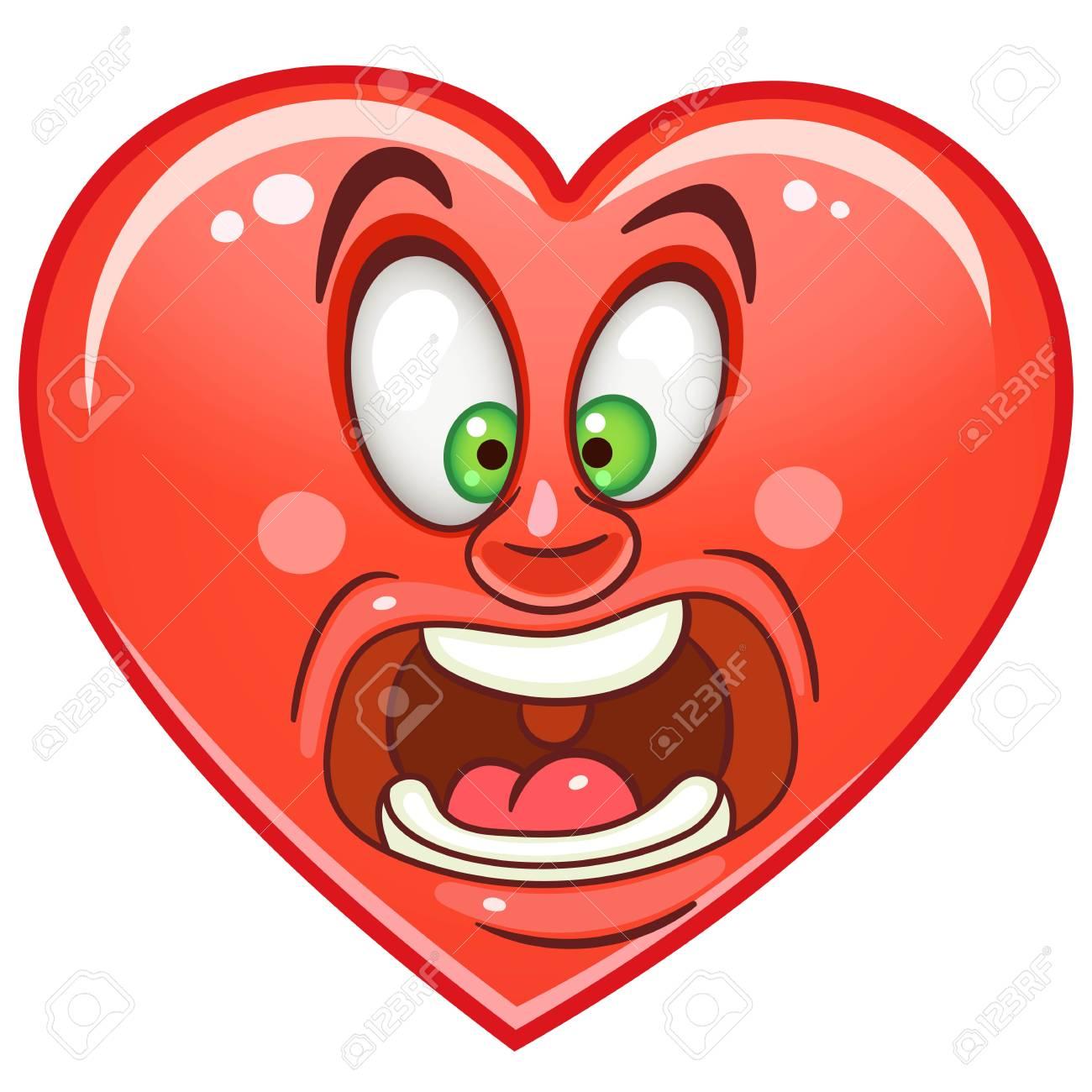 Cartoon red heart scream emoticon smiley emoji fear emotion cartoon red heart scream emoticon smiley emoji fear emotion symbol design biocorpaavc Gallery