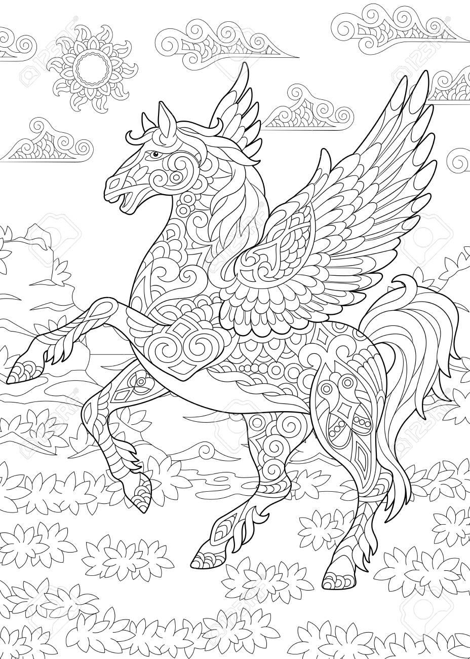 pegasus coloring page.html