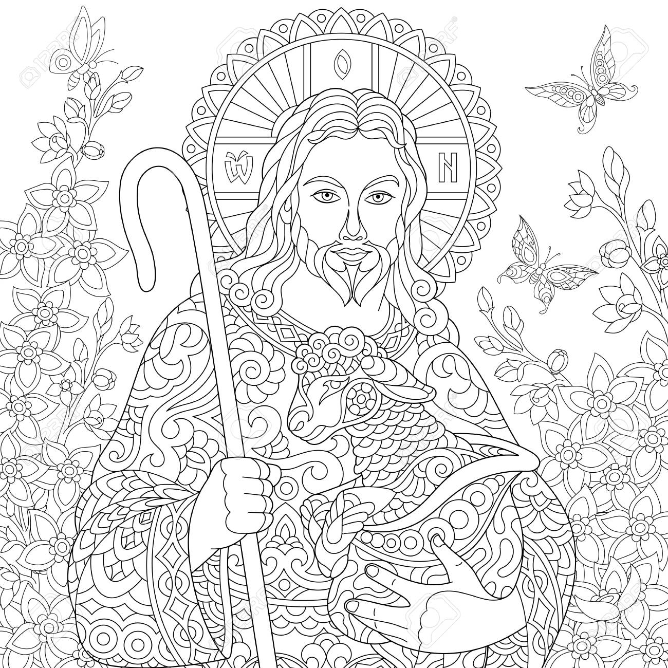 Jesus Resurrection Coloring Pages - Coloring Home | 1300x1300