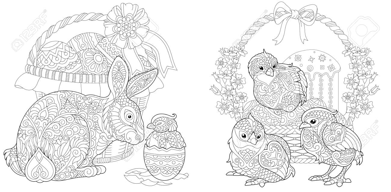 Printable bunny ears pattern – Coloring Page | 640x1300