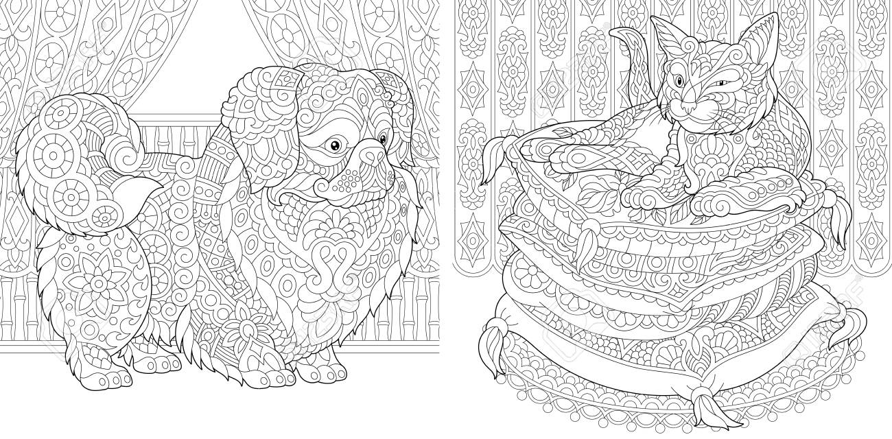 8800 Coloring Book Pages Cat Picture HD