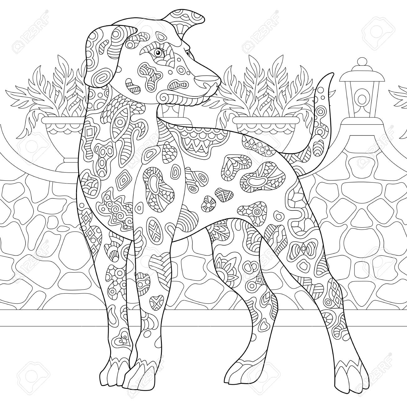 Top 25 Free Printable Dog Coloring Pages Online | 1300x1300