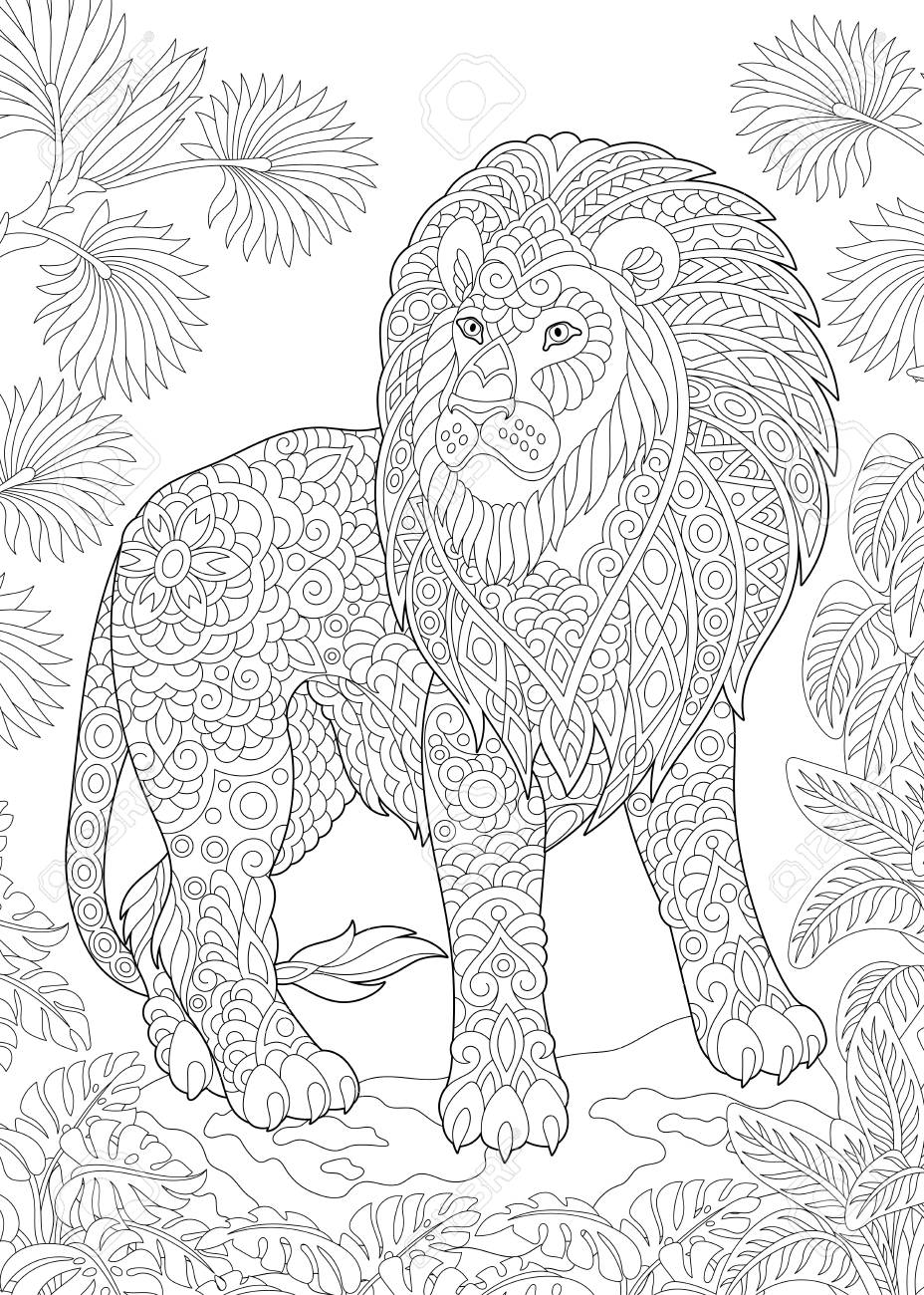 Coloring Page Coloring Book Colouring Picture With Lion Antistress Royalty Free Cliparts Vectors And Stock Illustration Image 107856852 All our images are transparent and free for personal use. coloring page coloring book colouring picture with lion antistress