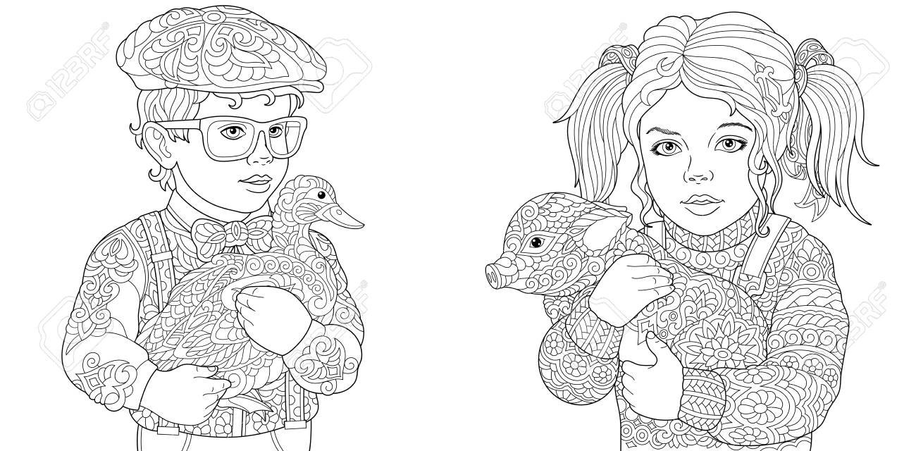 Animals Coloring Pages Coloring Book For Adults Colouring