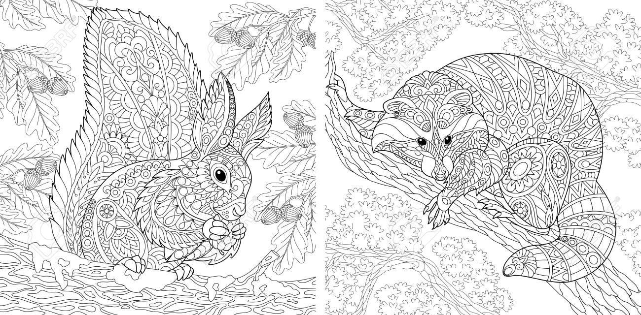 Raccoon Coloring Pages | Animal coloring pages, Coloring pages ... | 640x1300