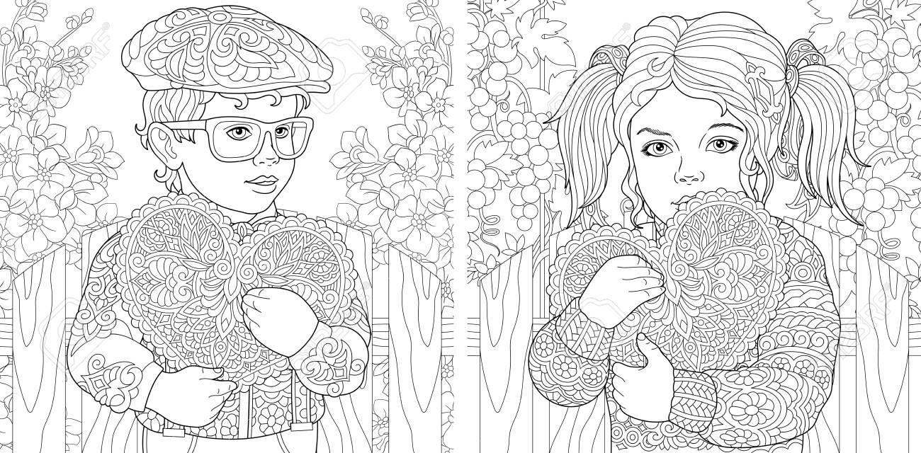 Love. Coloring Pages. Coloring Book for adults. Colouring pictures..