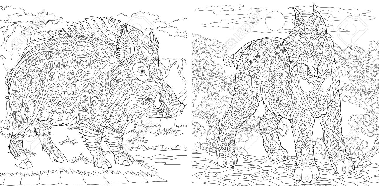 Coloring Pages. Coloring Book For Adults. Colouring Pictures With ...