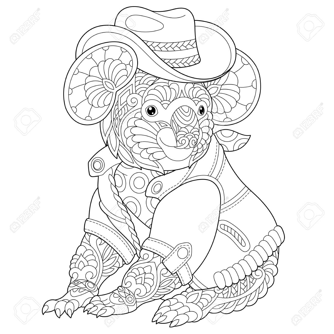 Coloring Page Coloring Book Anti Stress Colouring Picture With Royalty Free Cliparts Vectors And Stock Illustration Image 118879871