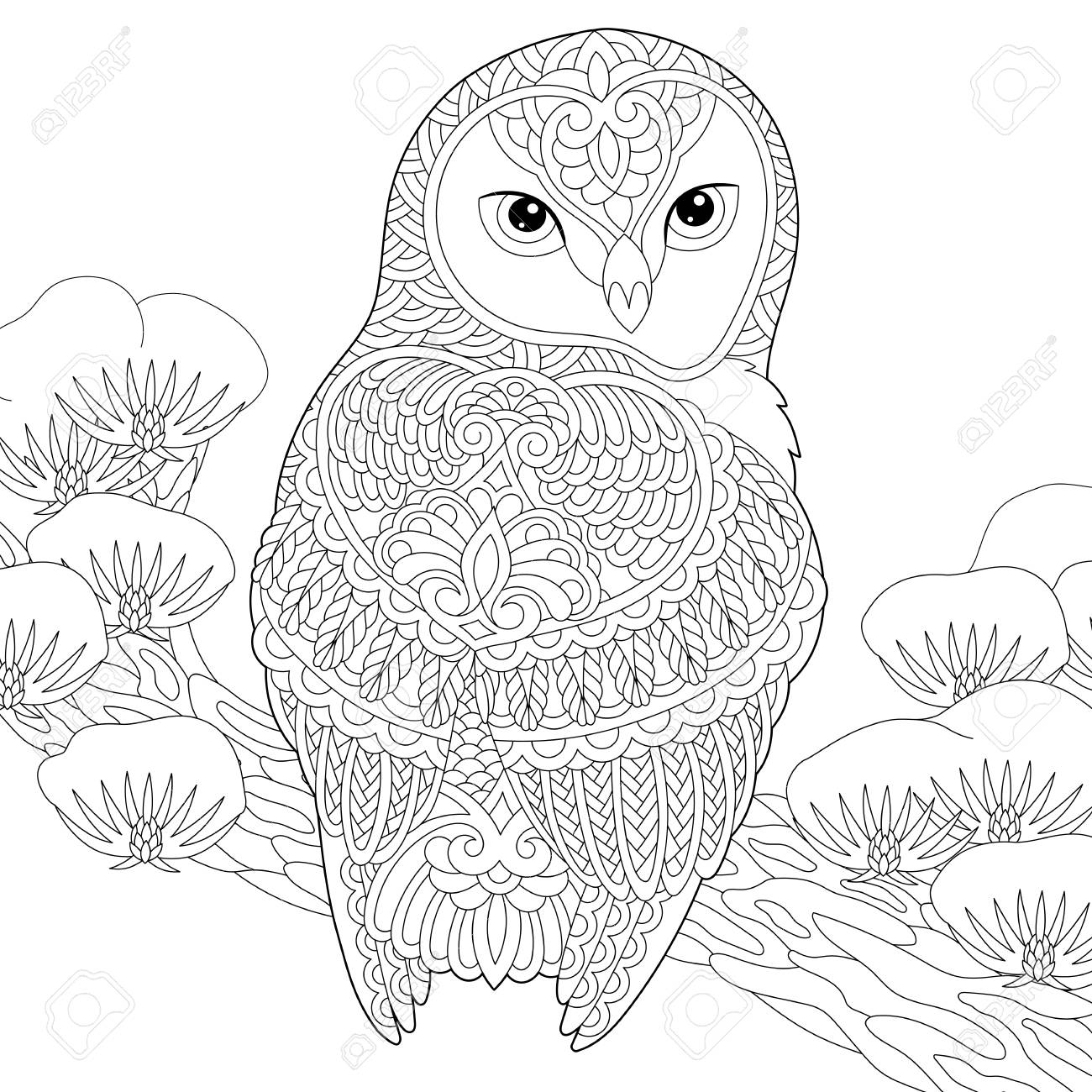 - Coloring Page. Coloring Book. Anti Stress Colouring Picture With