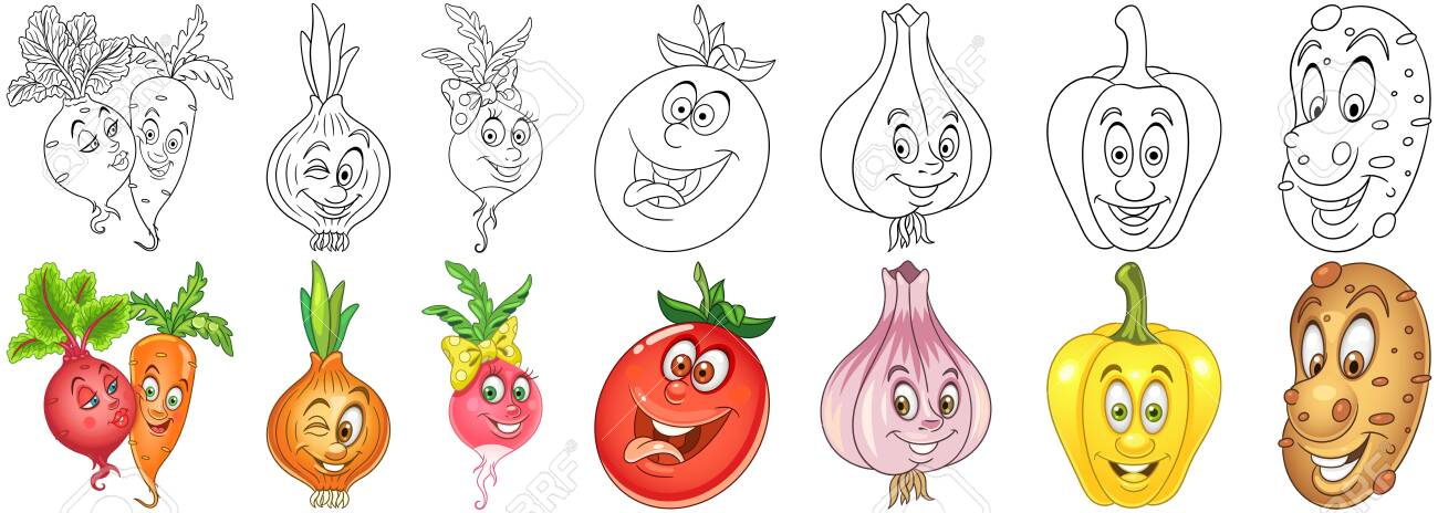 Free Coloring Pages of Vegetable Gardens | 464x1300