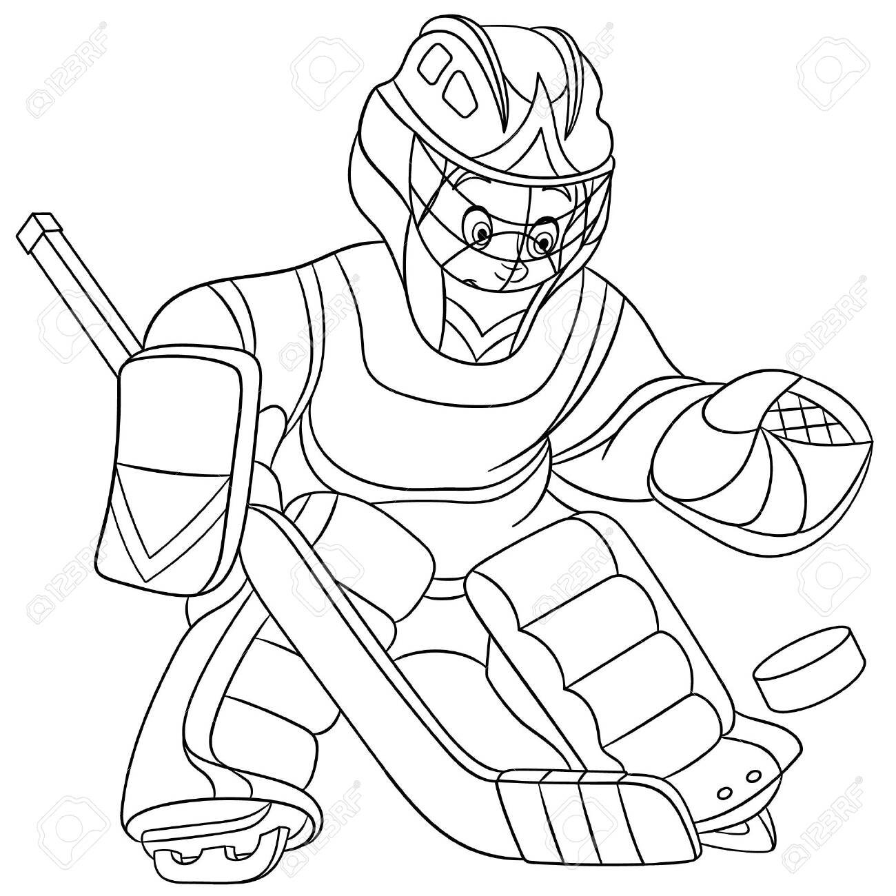 Hockey Coloring Pages For Kids Also Extraordinary Hockey Coloring ... | 1300x1300