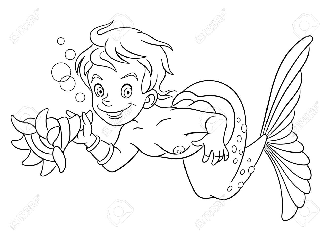 Mermaid Coloring Pages For Kids Tag: 22 Fantastic Mermaid Coloring ... | 975x1300