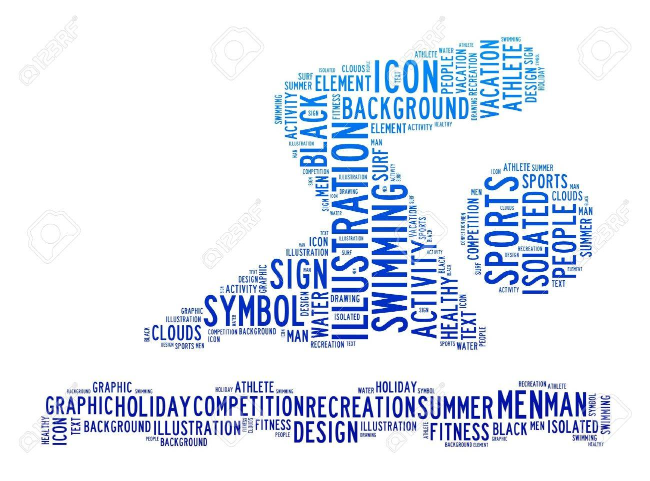 Swiming symbols text clouds on isolated background stock photo swiming symbols text clouds on isolated background stock photo 13142734 biocorpaavc Gallery