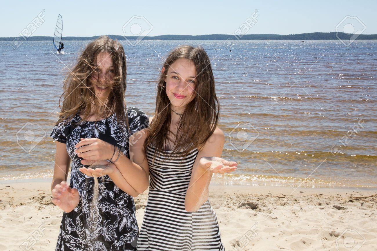On beach teens the Lightning strike