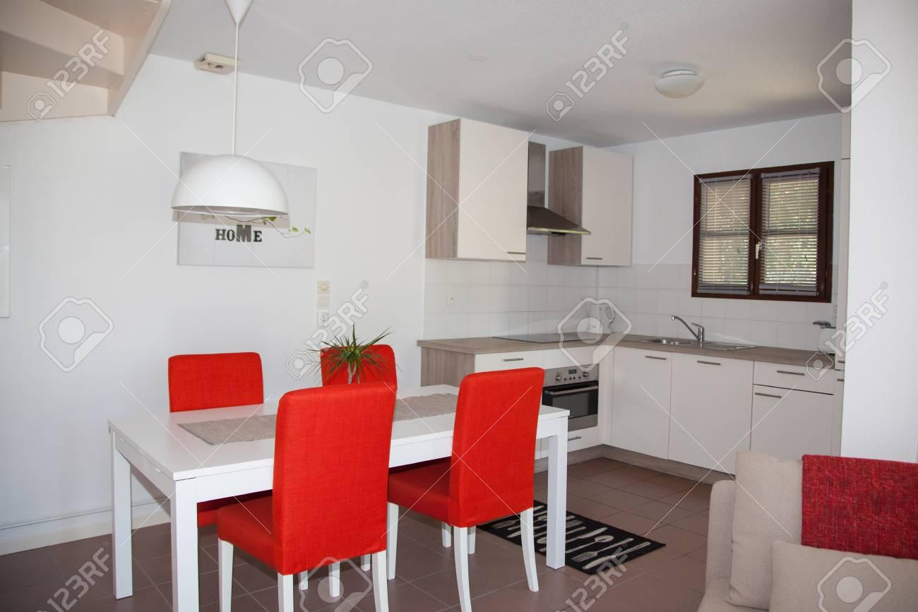 Un intérieur de cuisine dans la maison moderne