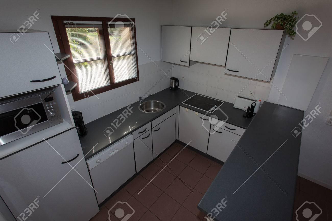 Küche Inneneinrichtung Sauber Platz Haus Zuhause Innen Modern ...