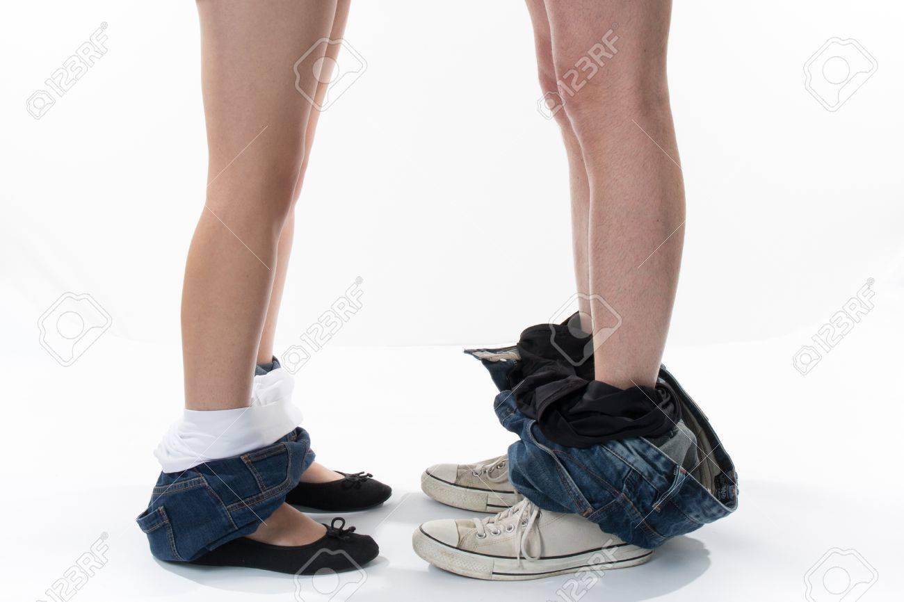 Loving Couple Profil Des Jambes De Couple D Amoureux L Homme Et