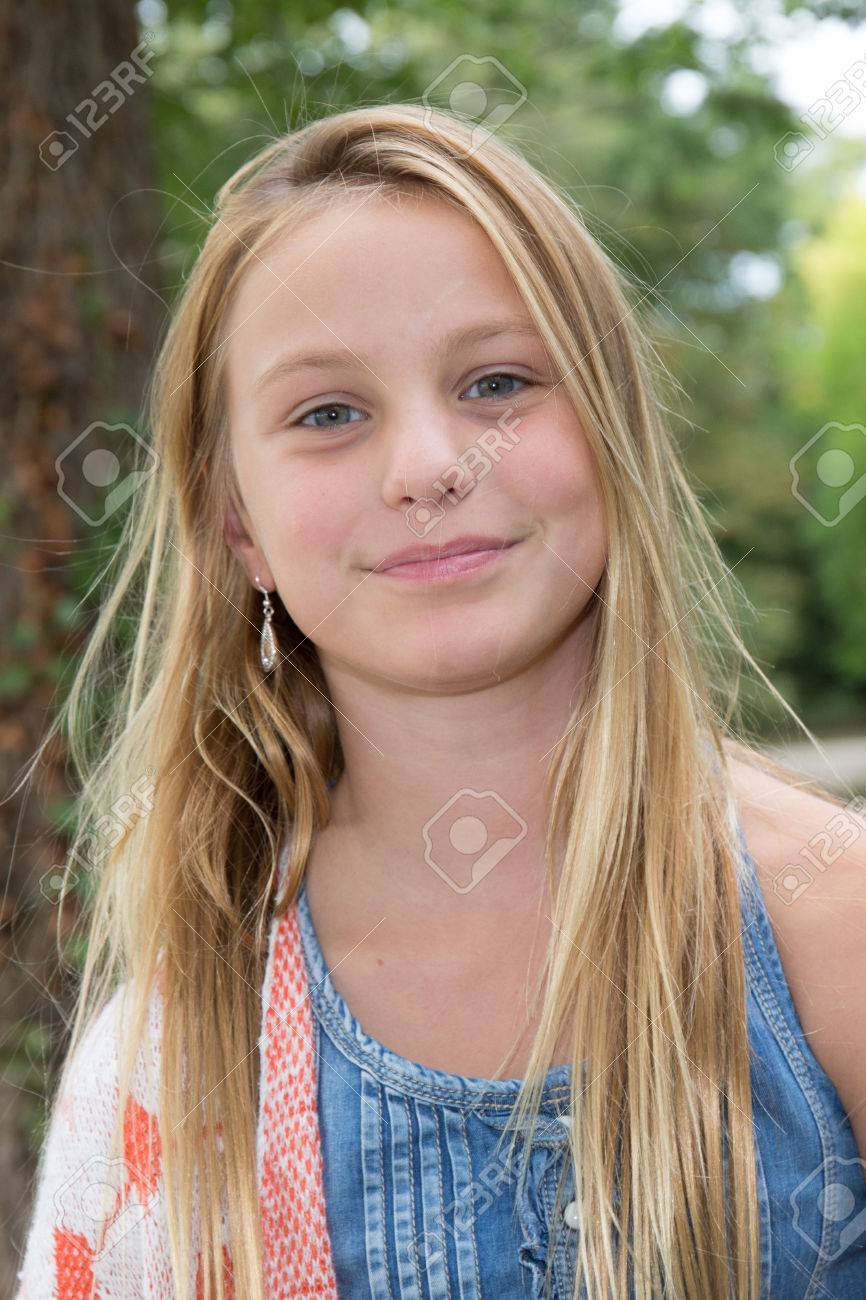 Portrait of 10-year-old blond girl Stock Photo - 64478608