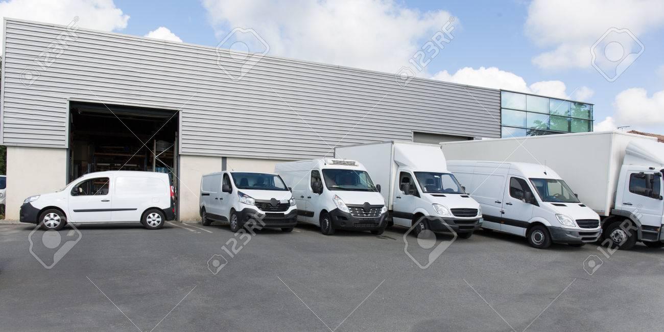 society parking for van transportation truck park - 86047215
