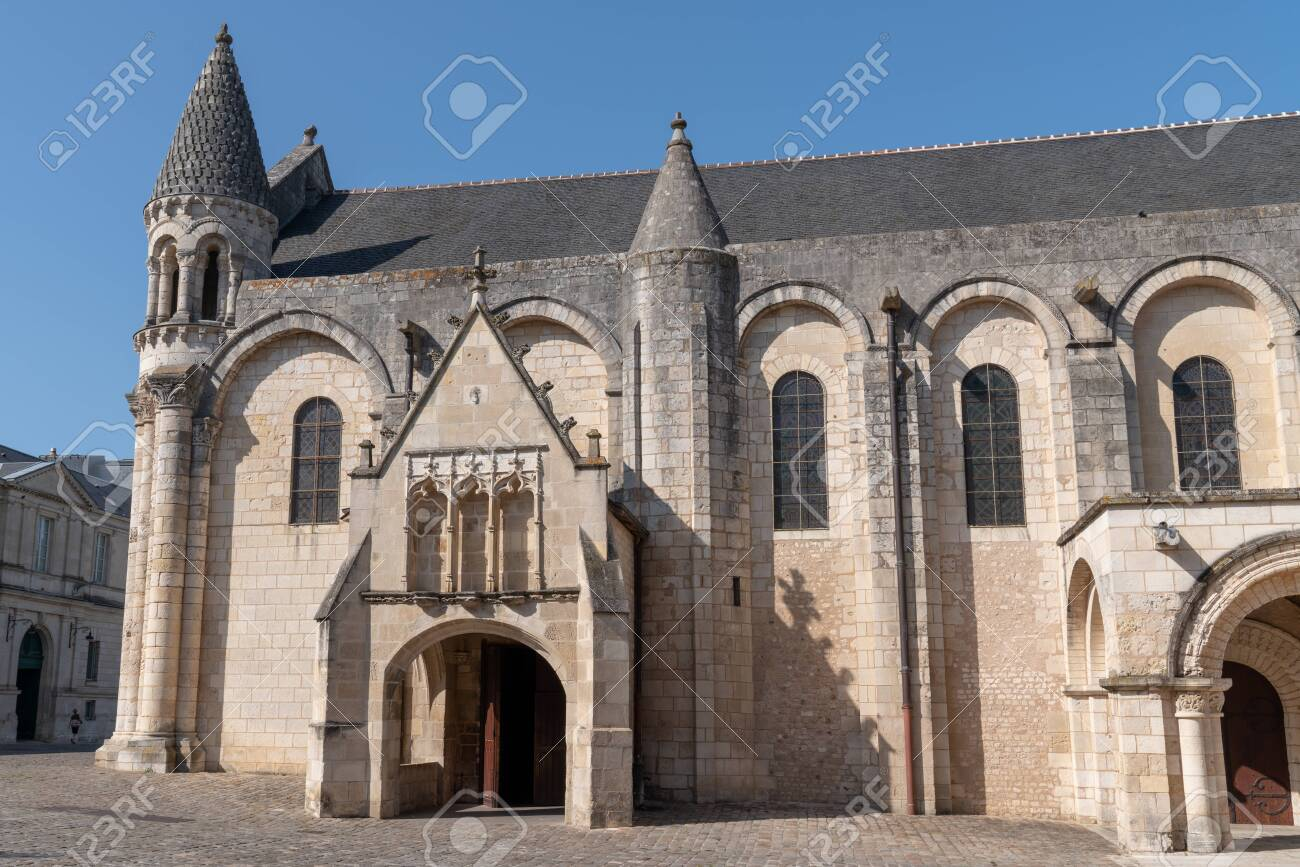 Poitiers Side Church Notre Dame La Grande In Poitiers France Stock Photo Picture And Royalty Free Image Image 127438669