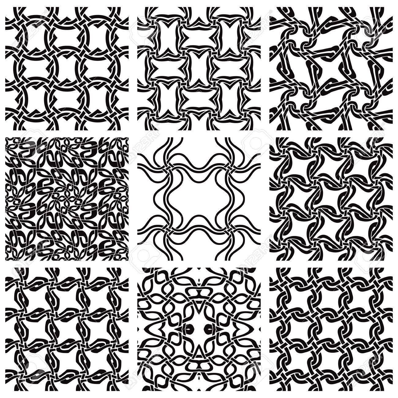Geometric seamless patterns set Stock Vector - 10338488