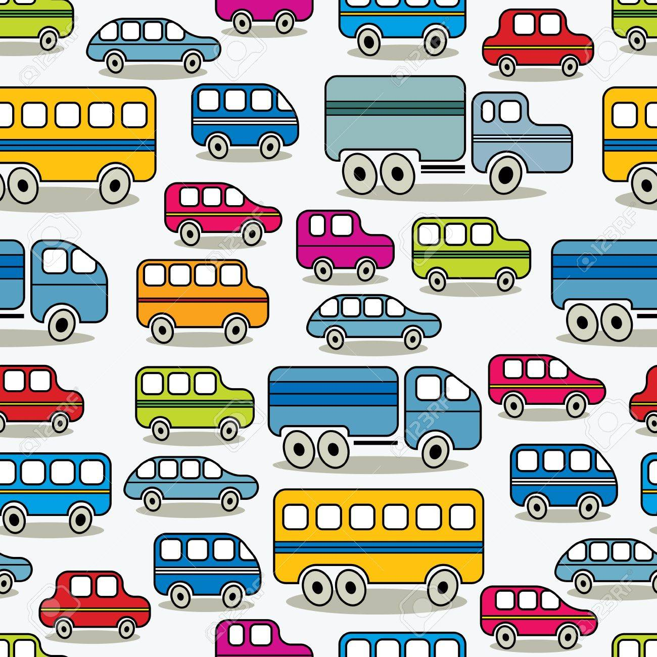 cartoon retro cars seamless pattern royalty free cliparts vectors