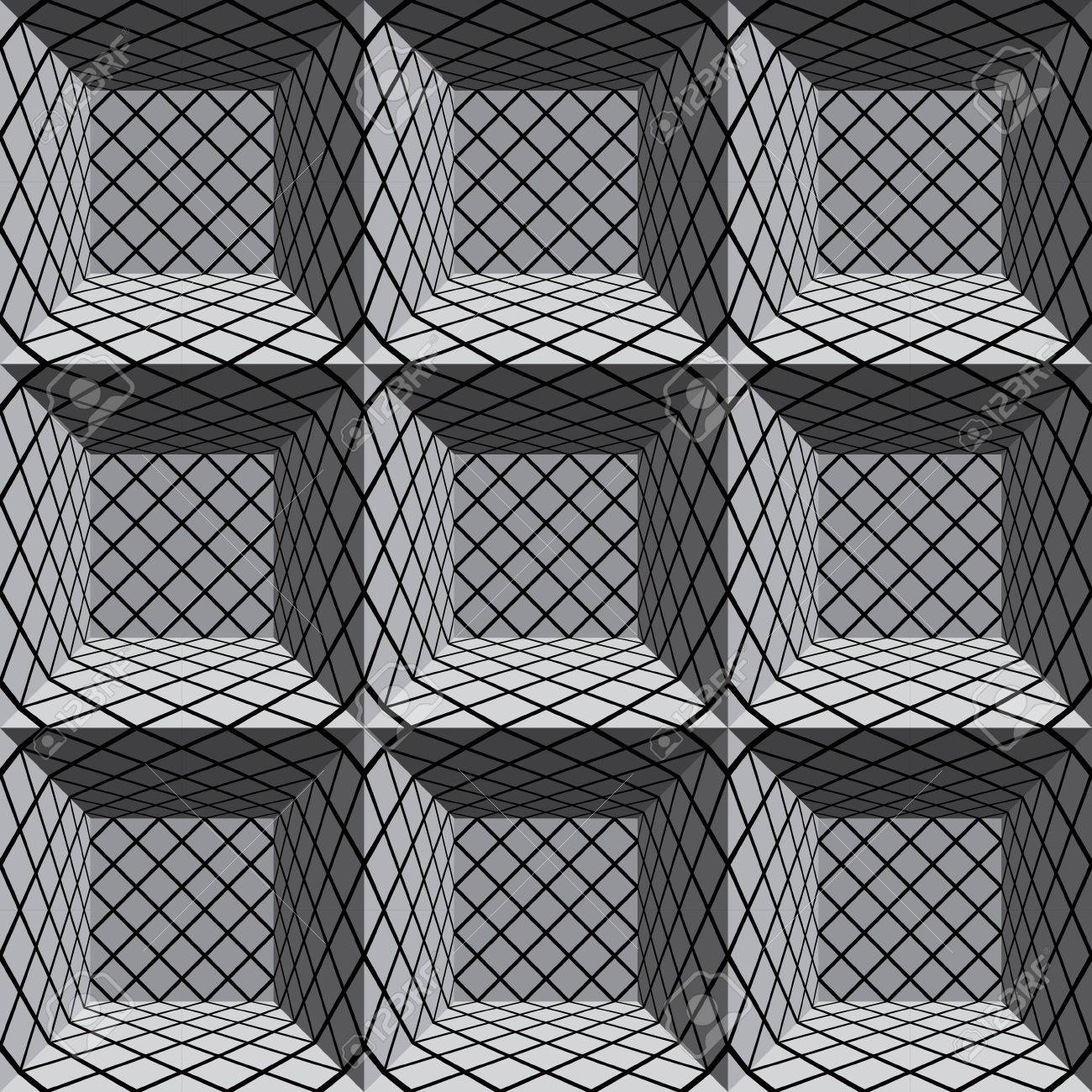 3d geometric architectural seamless pattern. Stock Vector - 15272244