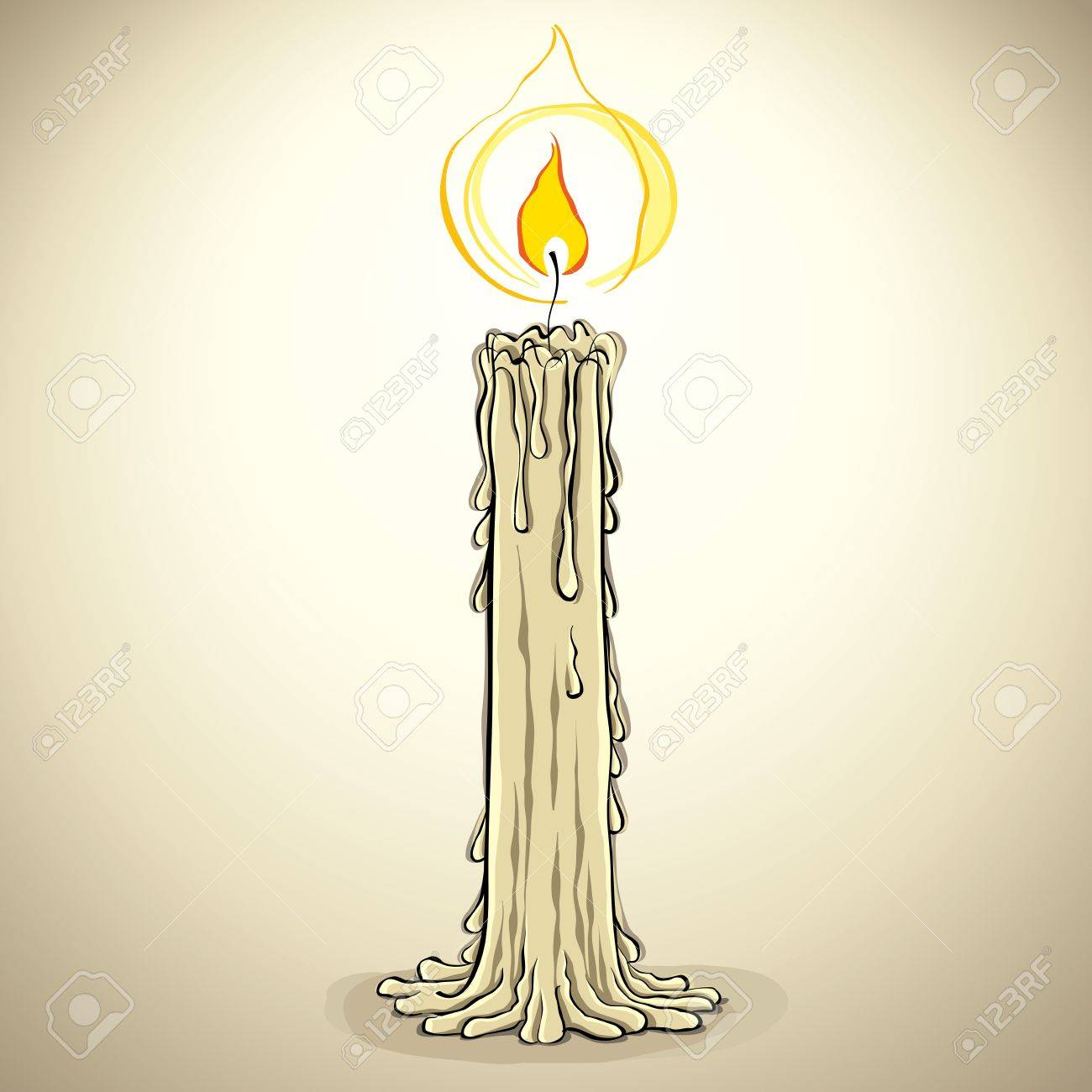 Candle, vector illustration. Stock Vector - 15272459