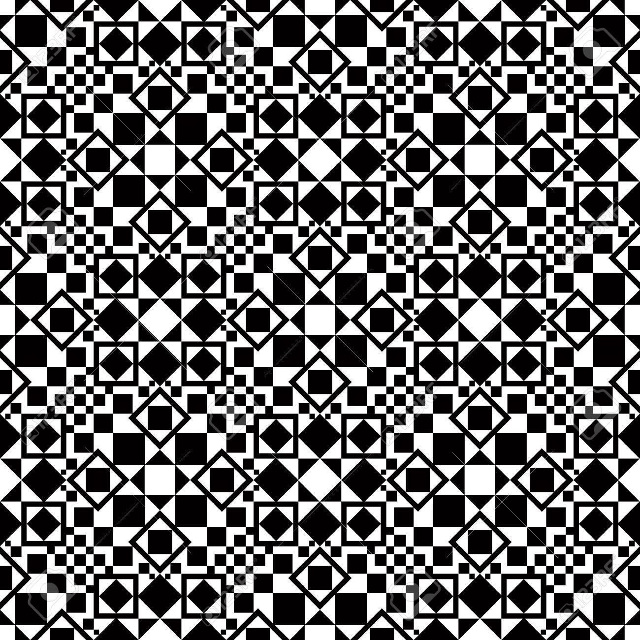 Geometric seamless pattern single color. Stock Vector - 15274944