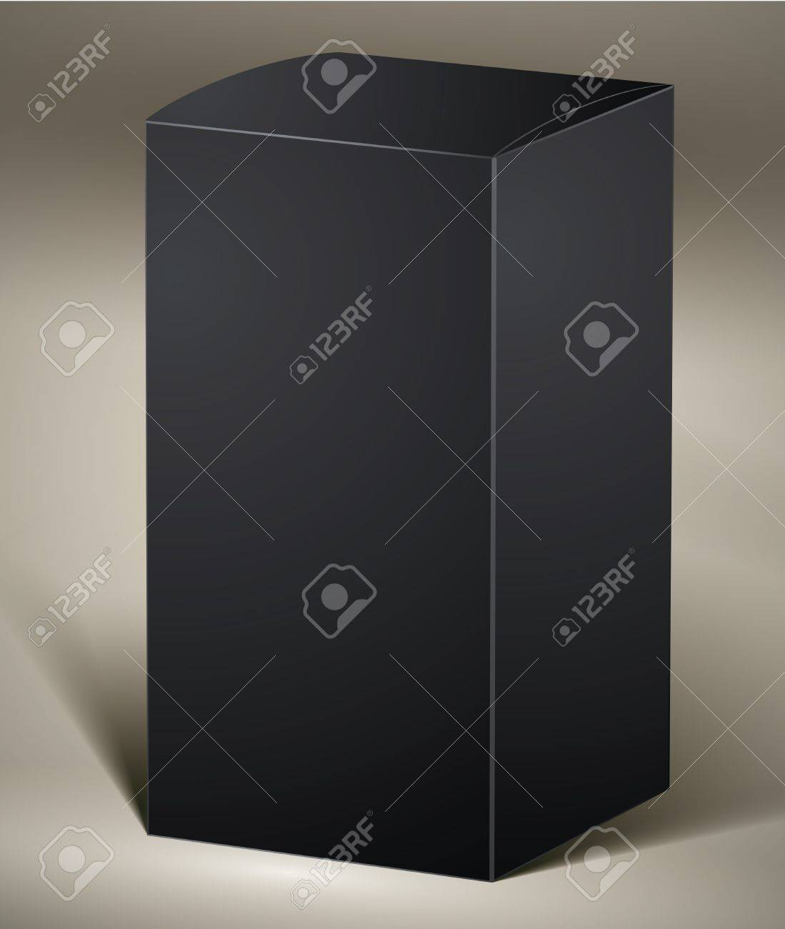 Black pack for design or product visualizing. Stock Vector - 15275346